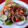 Salad dressing, italian dressing, commercial, regular, without salt