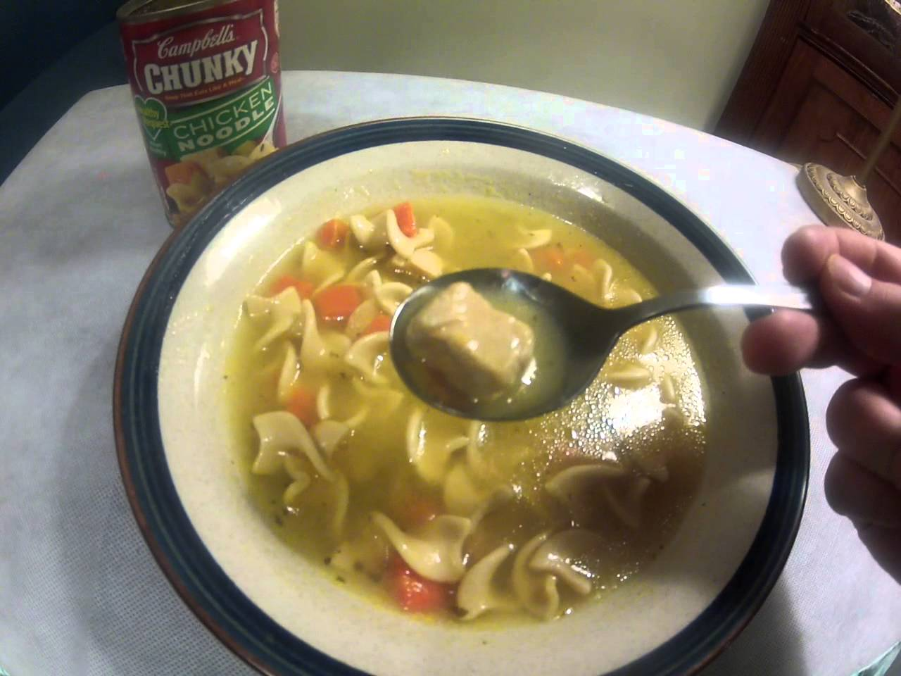 campbell's chunky, classic chicken noodle soup facts -in & out