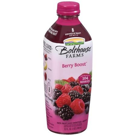 Fruit juice smoothie, BOLTHOUSE FARMS, BERRY BOOST. Nutrition Facts