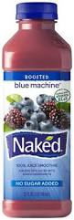 Fruit juice smoothie, NAKED JUICE, BLUE MACHINE